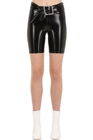 AYA MUSE Gara Vinyl Biker Shorts