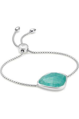 Monica Vinader Sterling Silver Siren Nugget Cocktail Friendship Chain Bracelet Amazonite
