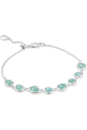 Monica Vinader Sterling Silver Siren Mini Nugget Cluster Bracelet Amazonite