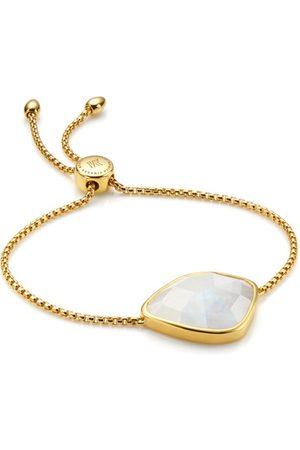 Monica Vinader Gold Siren Nugget Cocktail Friendship Chain Bracelet Moonstone