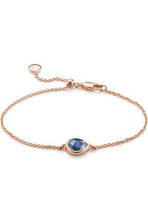 Monica Vinader Rose Gold Siren Fine Chain Bracelet Kyanite