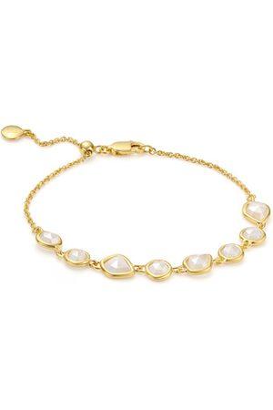 Monica Vinader Gold Siren Mini Nugget Cluster Bracelet Moonstone