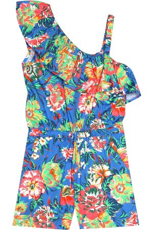 Msgm Floral stretch cotton playsuit