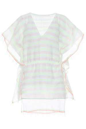 Lemlem Selata striped cotton-blend caftan