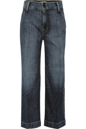 Frame Wide Lean high-rise cropped jeans