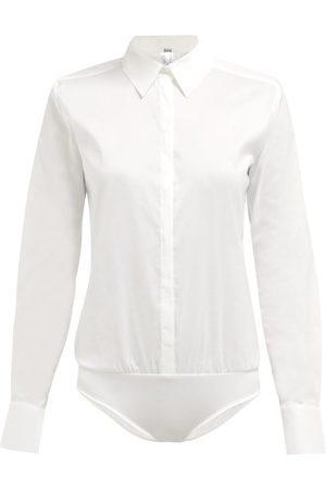 Wolford London Effect Cotton-blend Bodysuit - Womens