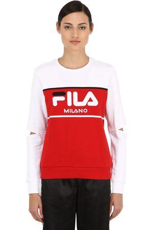 Fila Logo Color Block Cutout Sweatshirt