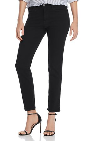 Frame Women High Waisted - Le High Straight-Leg Jeans in Film Noir