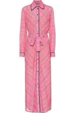Victoria Victoria Beckham Checked cotton and silk shirt dress