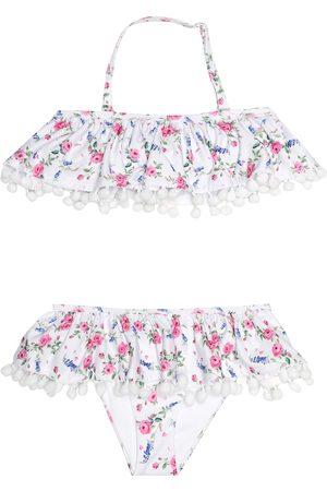 MONNALISA Pompom floral bikini
