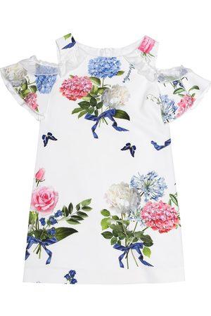 MONNALISA Cold-shoulder floral dress