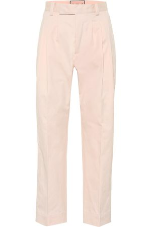 Plan C High-rise cotton pants