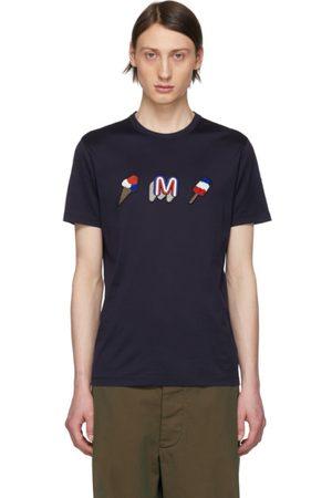 Moncler Men T-shirts - Navy Ice Cream T-Shirt