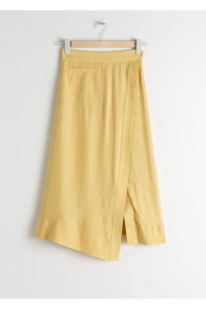 & OTHER STORIES Women Midi Skirts - Asymmetrical Side Slit Midi Skirt