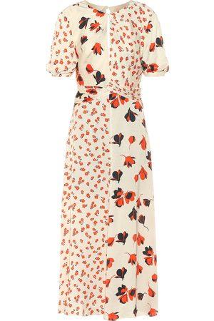 Self-Portrait Floral satin dress