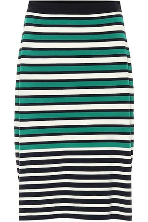 Tory Sport Women Midi Skirts - Striped knit skirt