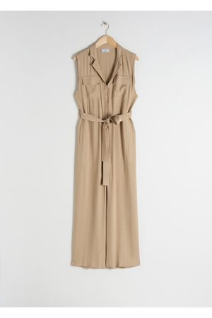 & OTHER STORIES Women Jumpsuits - Belted Sleeveless Jumpsuit