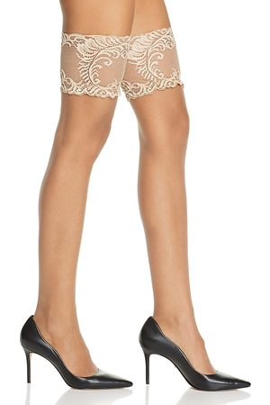 Natori Silky Sheer Lace Top Thigh-Highs
