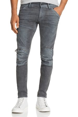 G-Star 5620 3D Knee-Zip Skinny Jeans in Dark Aged Cobler