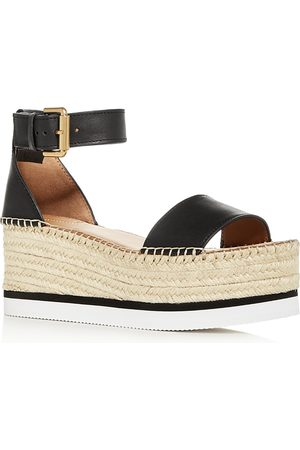 See by Chloé Women's Glyn Ankle-Strap Platform Wedge Sandals