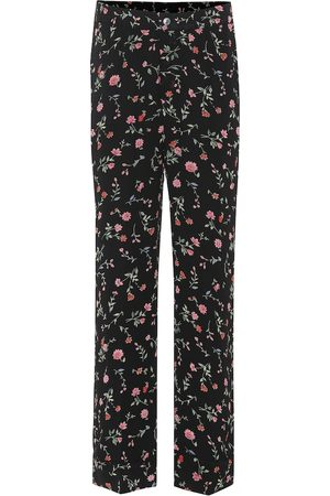 Ganni Women Pants - Floral crêpe pants
