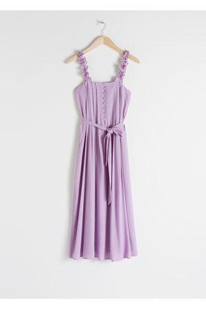 & OTHER STORIES Ruffle Strap Midi Dress