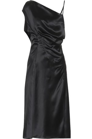 VERSACE Asymmetrical silk satin dress