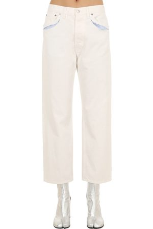 Maison Margiela Cotton Denim Jeans W/ Cut Outs