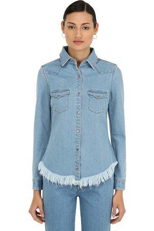 MARQUES'ALMEIDA Women Shirts - Fitted Cowboy Cotton Denim Shirt