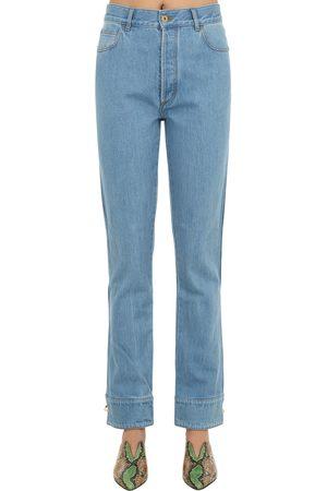 MARQUES'ALMEIDA Cuffed Cotton Denim Jeans