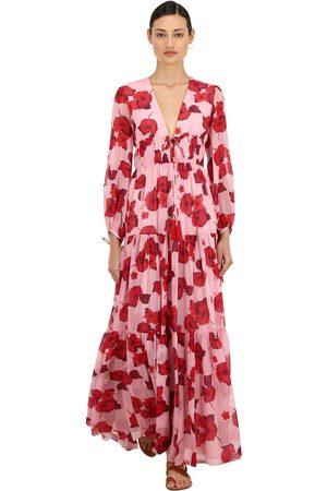 Borgo De Nor Floral Print Silk Georgette Maxi Dress
