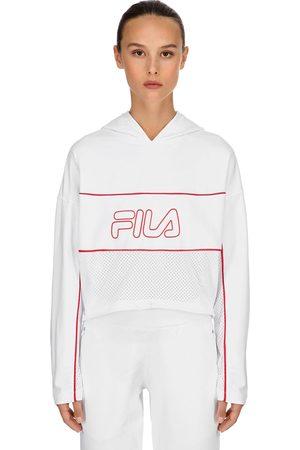Fila Romy Logo Nylon Sweatshirt Hoodie
