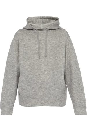 Raey Men Hoodies - Hooded Cashmere Blend Sweatshirt - Mens - Grey