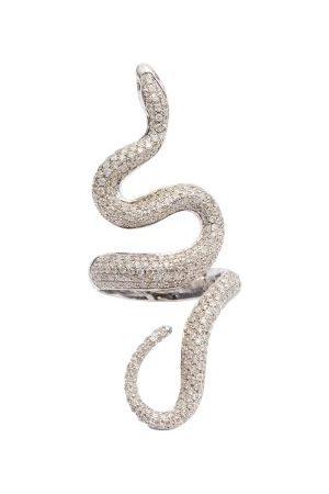 Lynn Ban Diamond & Sterling Snake Ring - Womens