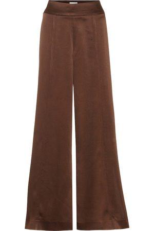 Arjé Naia high-rise wide-leg satin pants