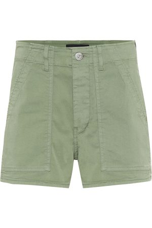 3x1 Simone cotton high-rise shorts