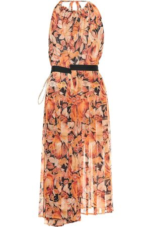 Y / PROJECT Floral chiffon halter dress