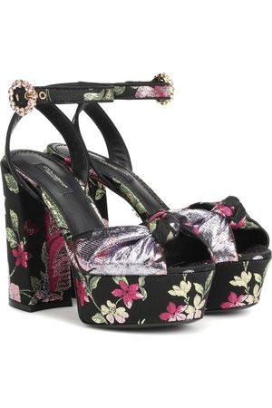 Dolce & Gabbana Brocade platform sandals