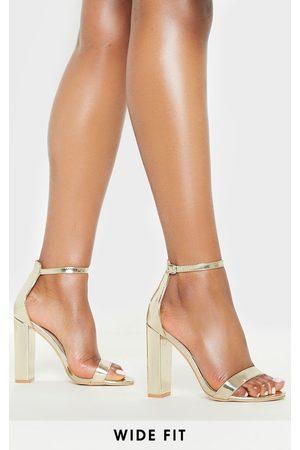 PRETTYLITTLETHING Women Heeled Sandals - Wide Fit Block Heeled Sandals