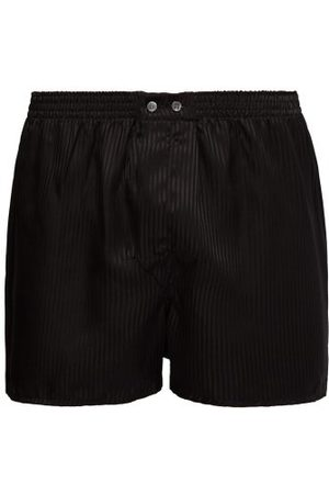DEREK ROSE Men Boxer Shorts - Woburn Satin-striped Silk Boxer Shorts - Mens - Multi