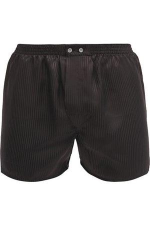 DEREK ROSE Woburn Satin Striped Silk Boxer Shorts - Mens - Multi