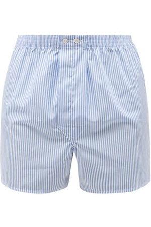 DEREK ROSE Candy-striped Cotton-poplin Boxer Shorts - Mens - Multi