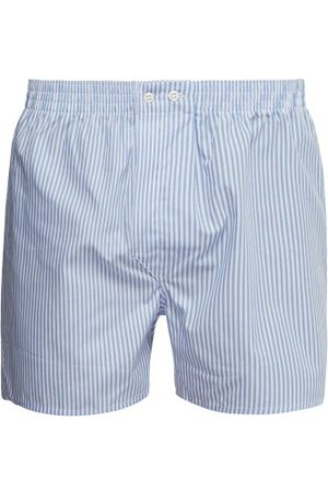 DEREK ROSE Men Boxer Shorts - Candy-striped Cotton-poplin Boxer Shorts - Mens - Multi