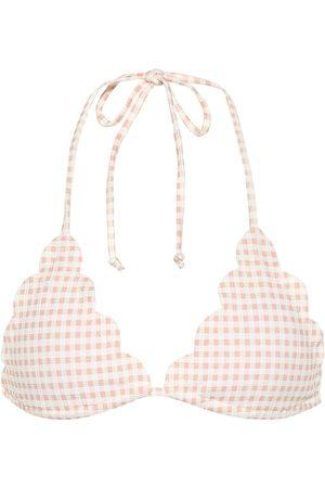 Marysia Broadway gingham bikini top