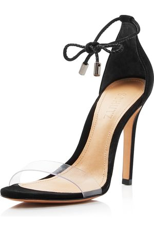 Schutz Women's Josseana Open Toe Nubuck High-Heel Sandals