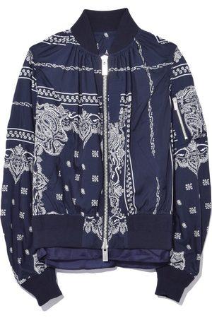 SACAI Bandana Print Jacket in Navy