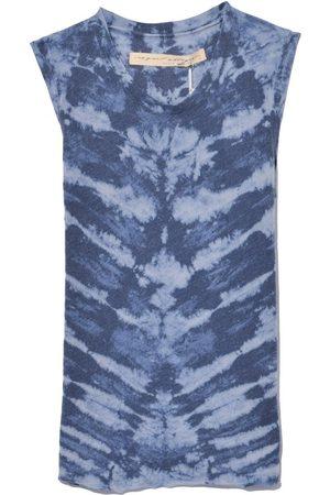 RAQUEL ALLEGRA Women Tank Tops - Muscle Tank in Water Tie Dye