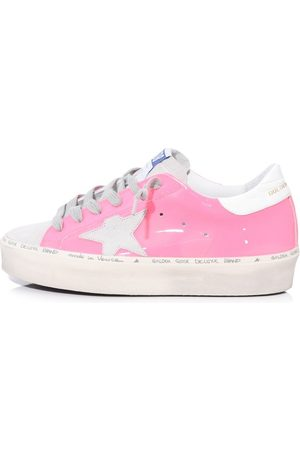 Golden Goose Hi Star Sneakers in Pink Fluo Leather