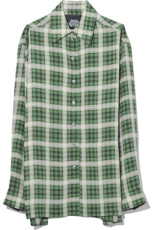 Marc Jacobs Long Sleeve Button Down Shirt in Green Multi