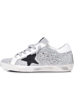Golden Goose Superstar Sneakers in Glitter/Black Star